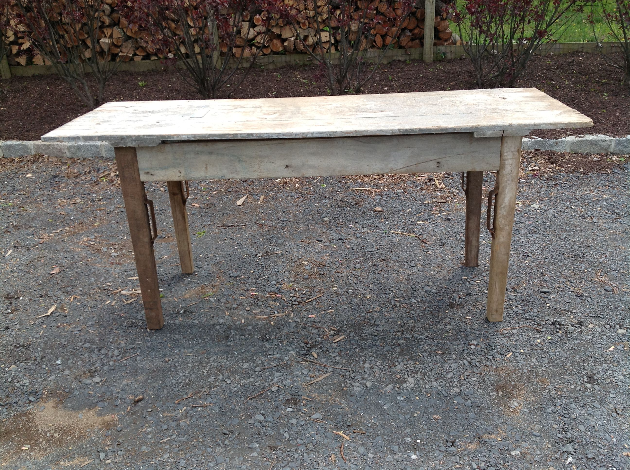 Made with an old barn door | Barn Wood Tables | Pinterest