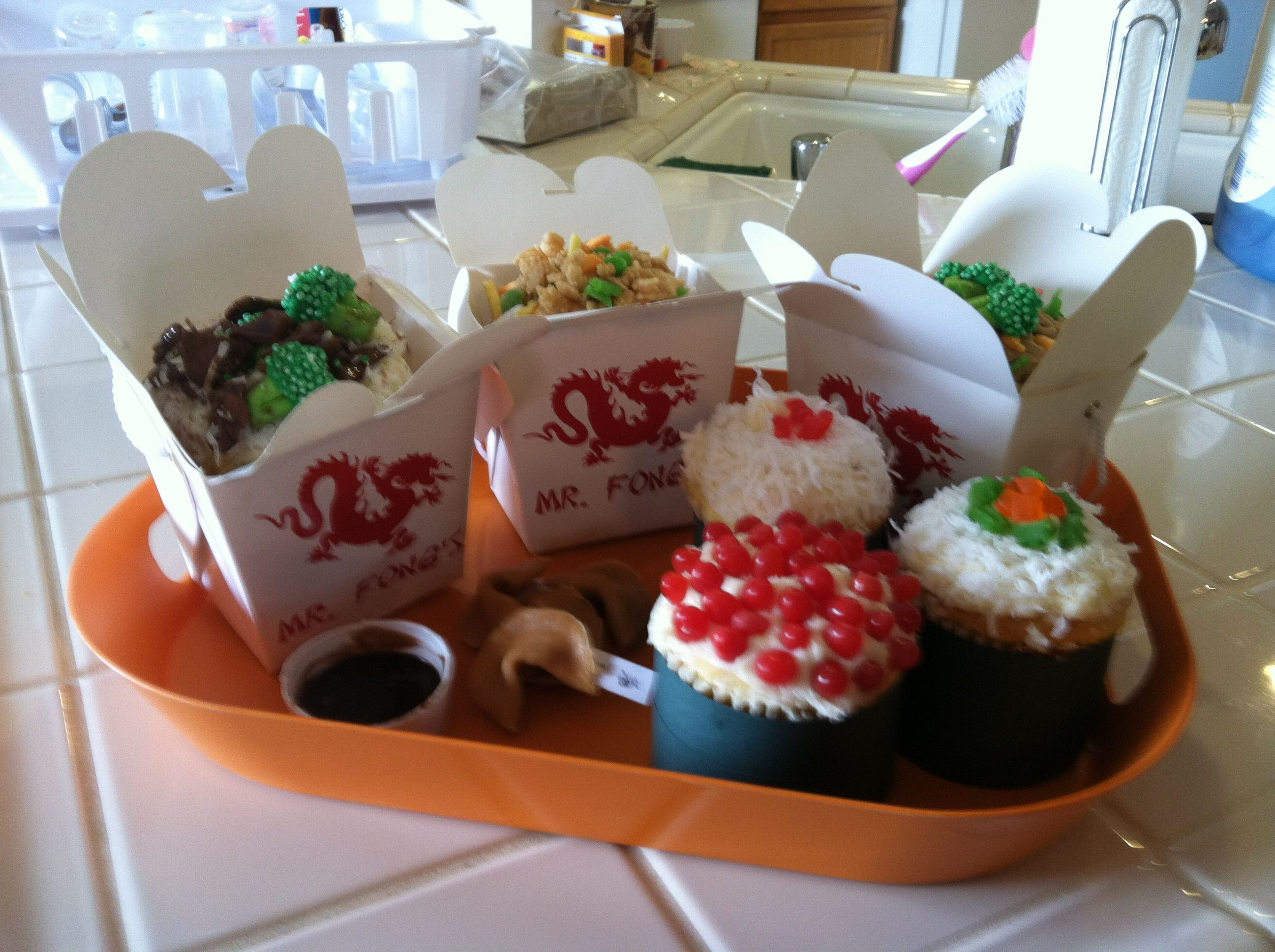 Chinese Takeout Cupcakes | Things I made from Pinterest | Pinterest