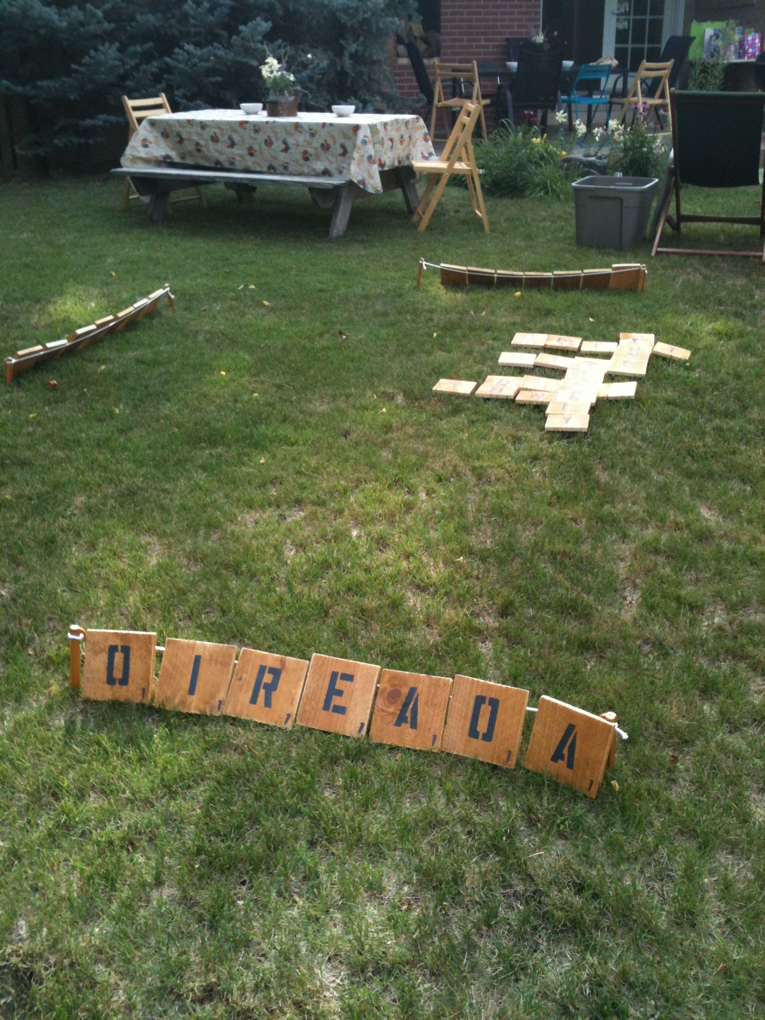 Yard scrabble  Things Ive made  Pinterest