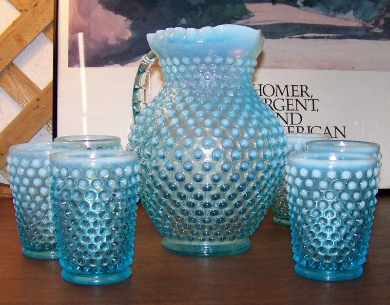 Blue Hobnail Glass For The Home Pinterest