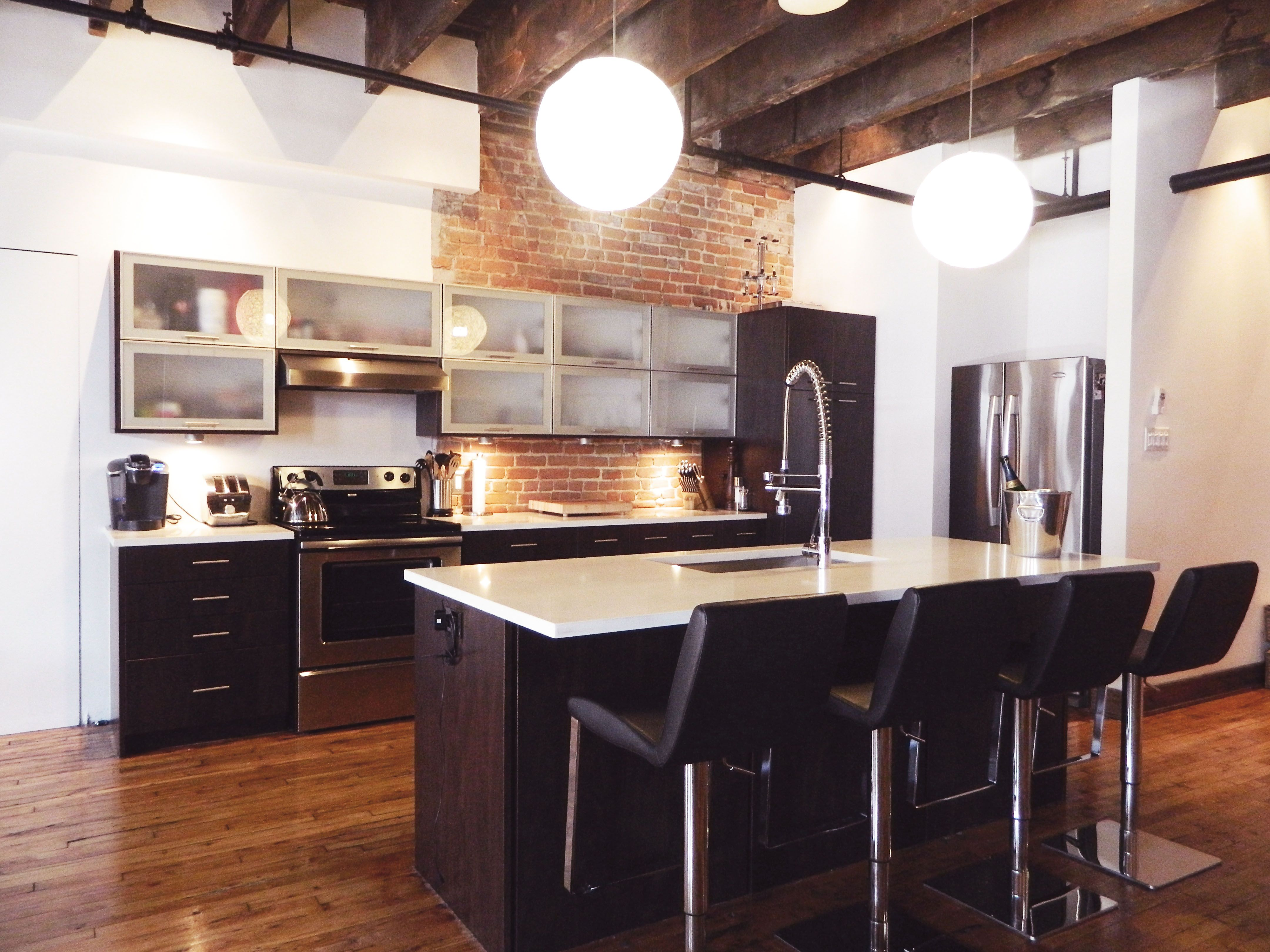 Deco Salon Gris Et Bois : Kitchen Loft  La Chambre Design  Houses, kitchens, etc  Pinterest