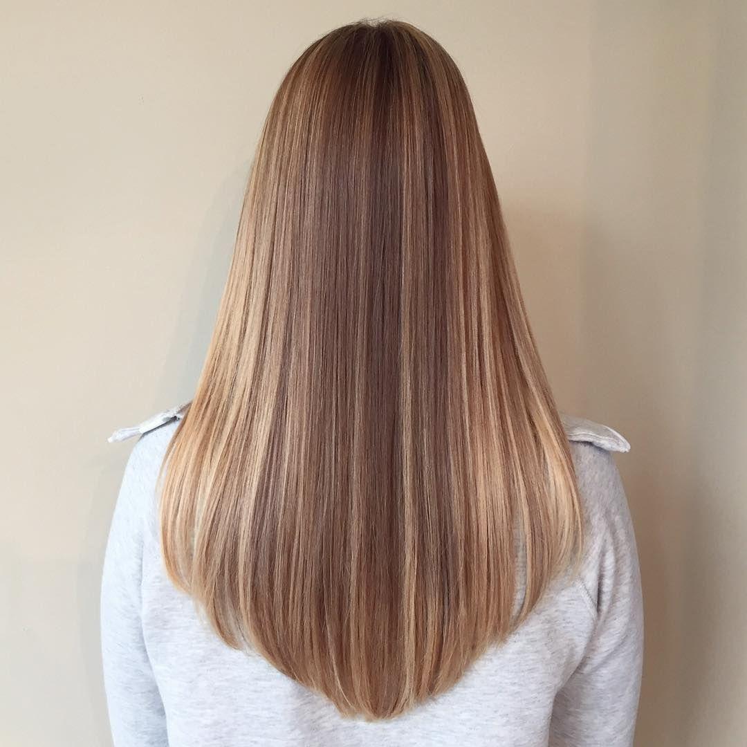 Стрижка на длинных волосах полукругом