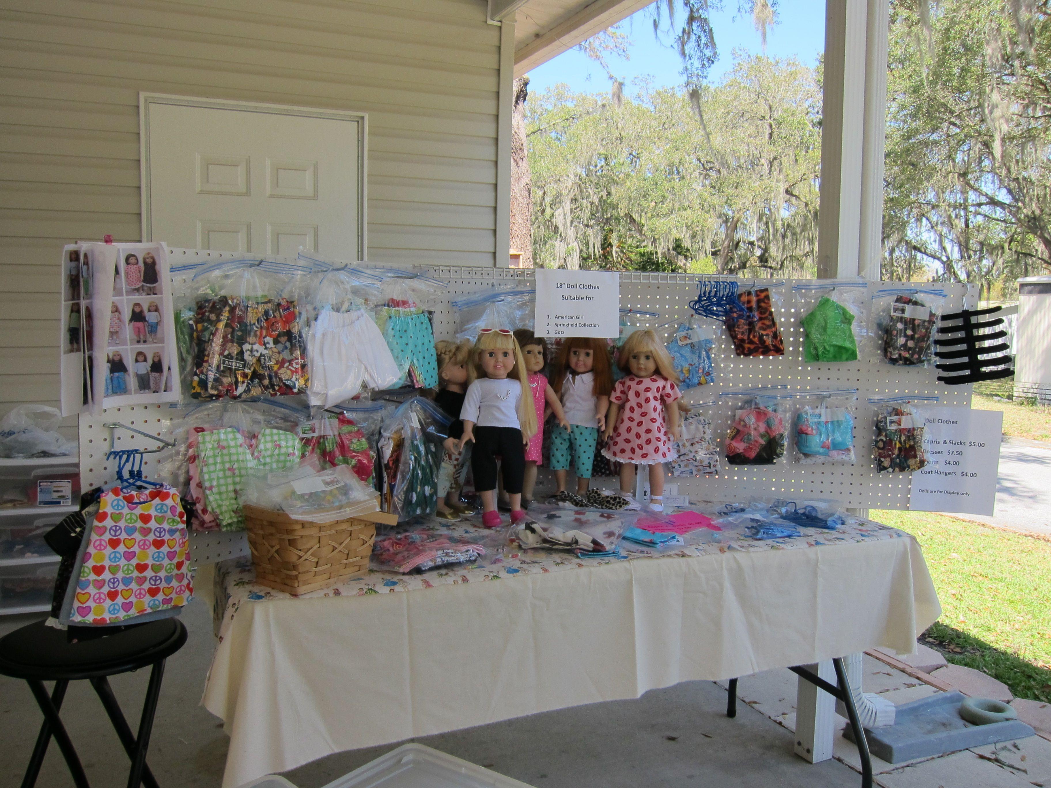 doll clothing display craft vendor booth display ideas. Black Bedroom Furniture Sets. Home Design Ideas