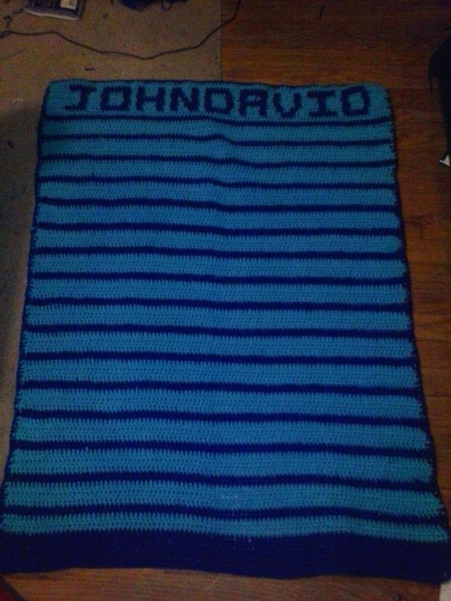 Crocheting Names On Blankets : baby boy blanket with name Crochet Hats N Things Pinterest