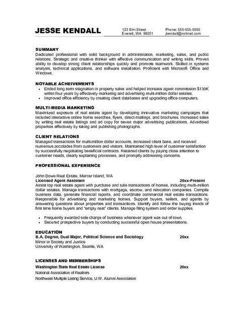 resume for job marketing