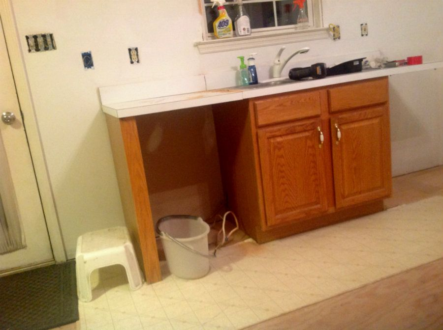 Pin by kree8tive on our kitchen family room remodel - Builder grade oak kitchen cabinets ...