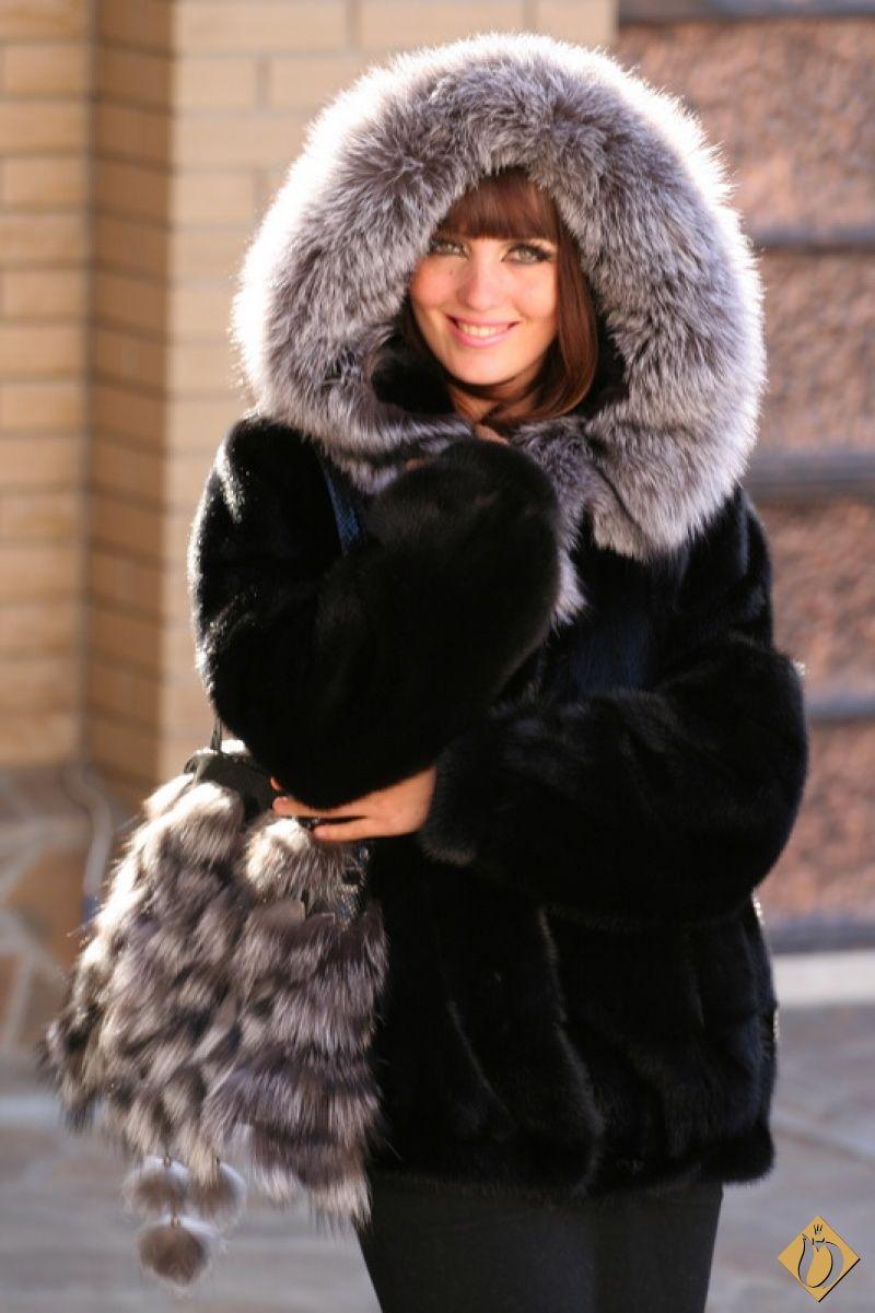 Mink & Fox Fur Hoodie | fur hoods | Pinterest