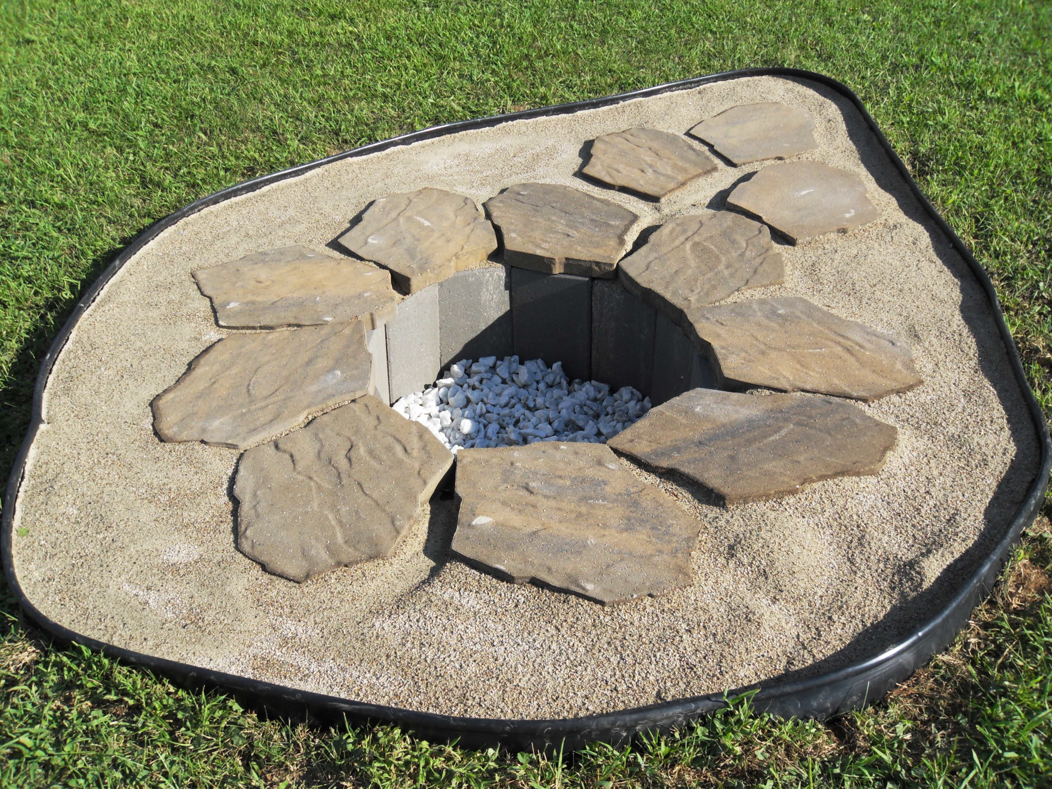 Our Recessed Fire Pit For Home Garden Pinterest