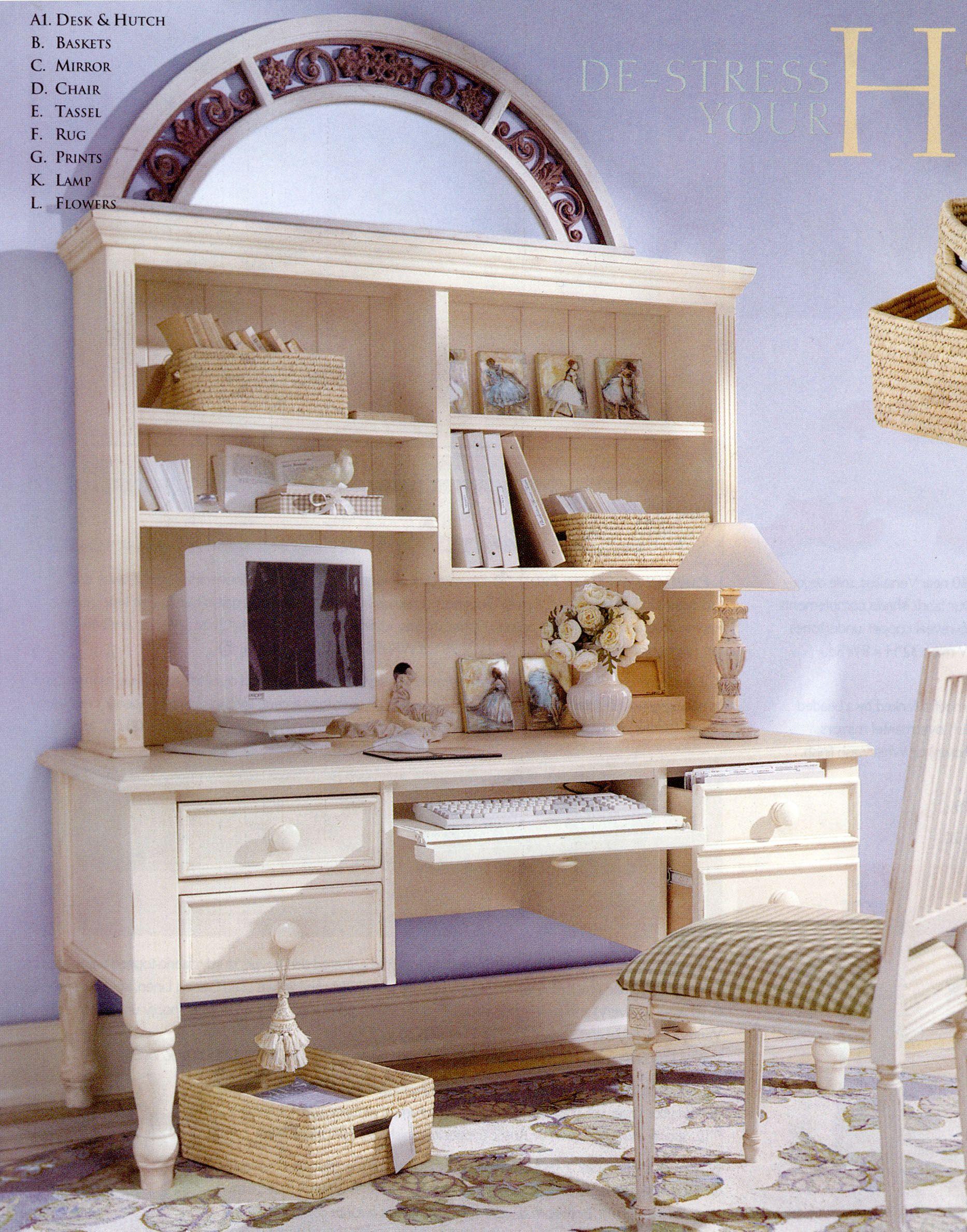 Ballard Designs Home Office Desk & Hutch  For the Home  Pinterest