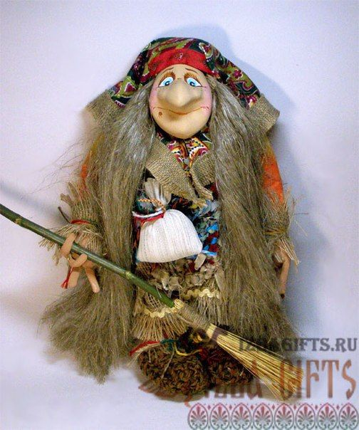 Кукла на руку баба яга своими руками 15