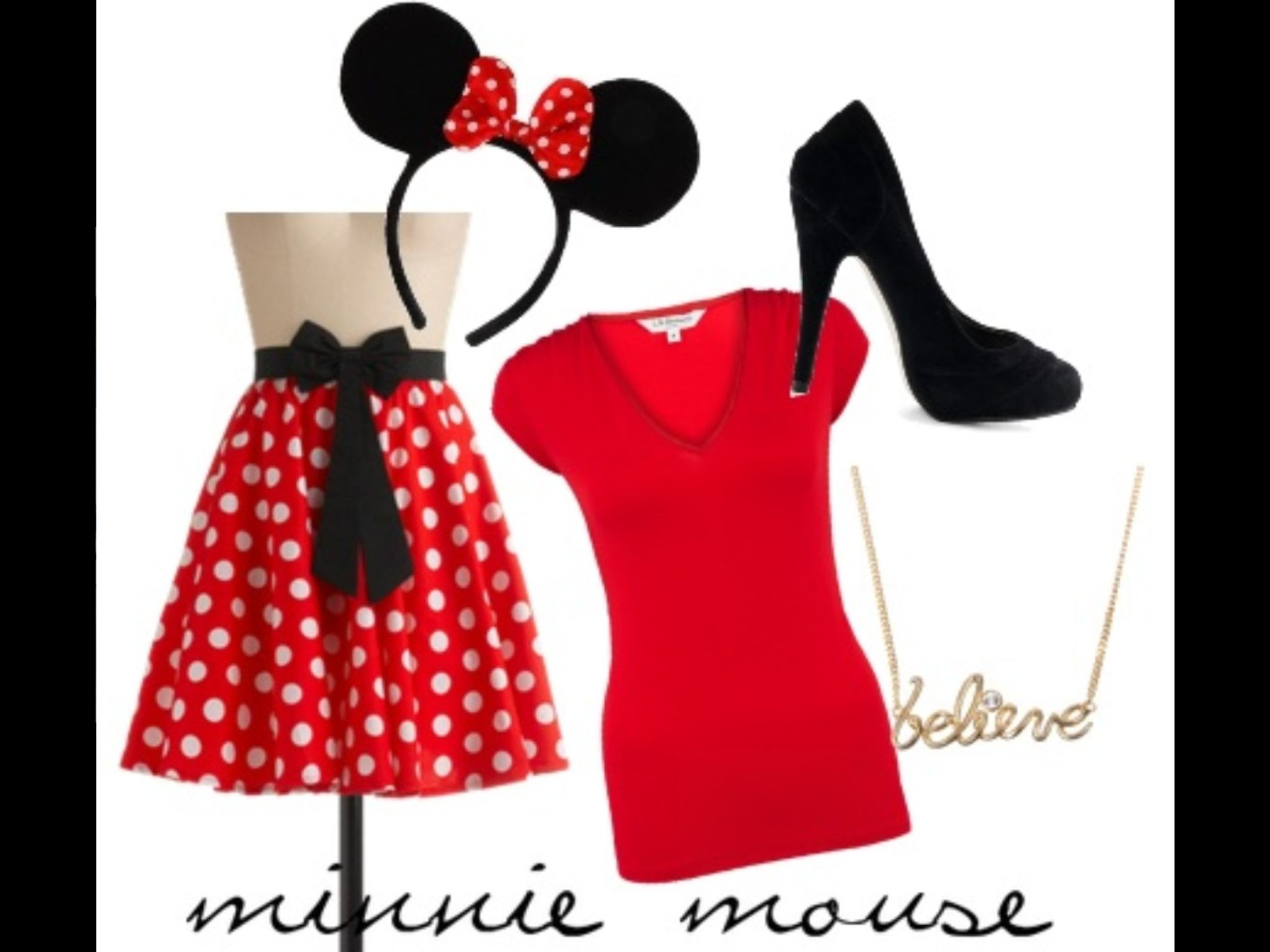 another mini mouse costume everything halloween pinterest. Black Bedroom Furniture Sets. Home Design Ideas