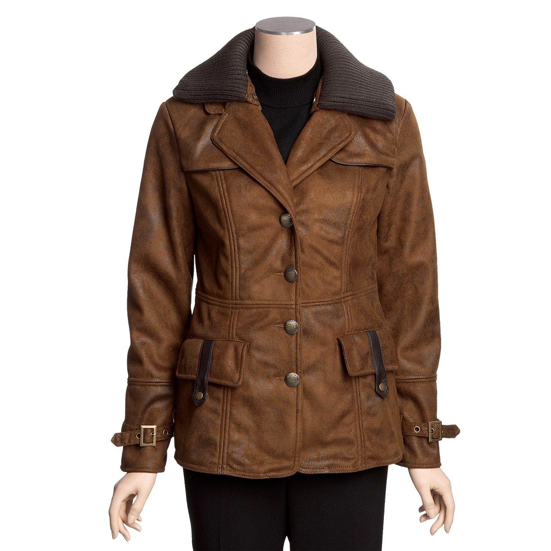 Faux shearling barn coat style pinterest