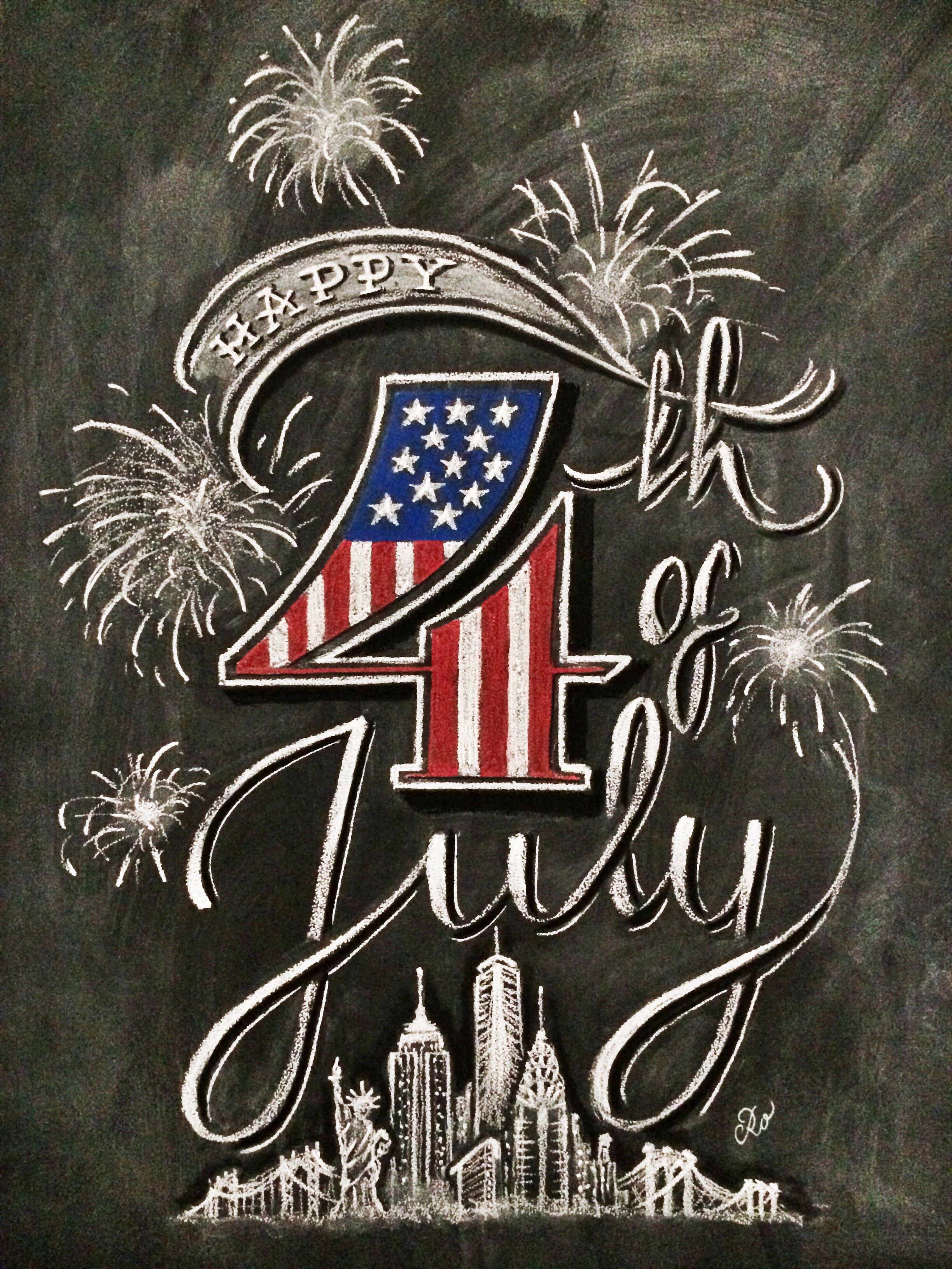 chalkboard art 4th of july