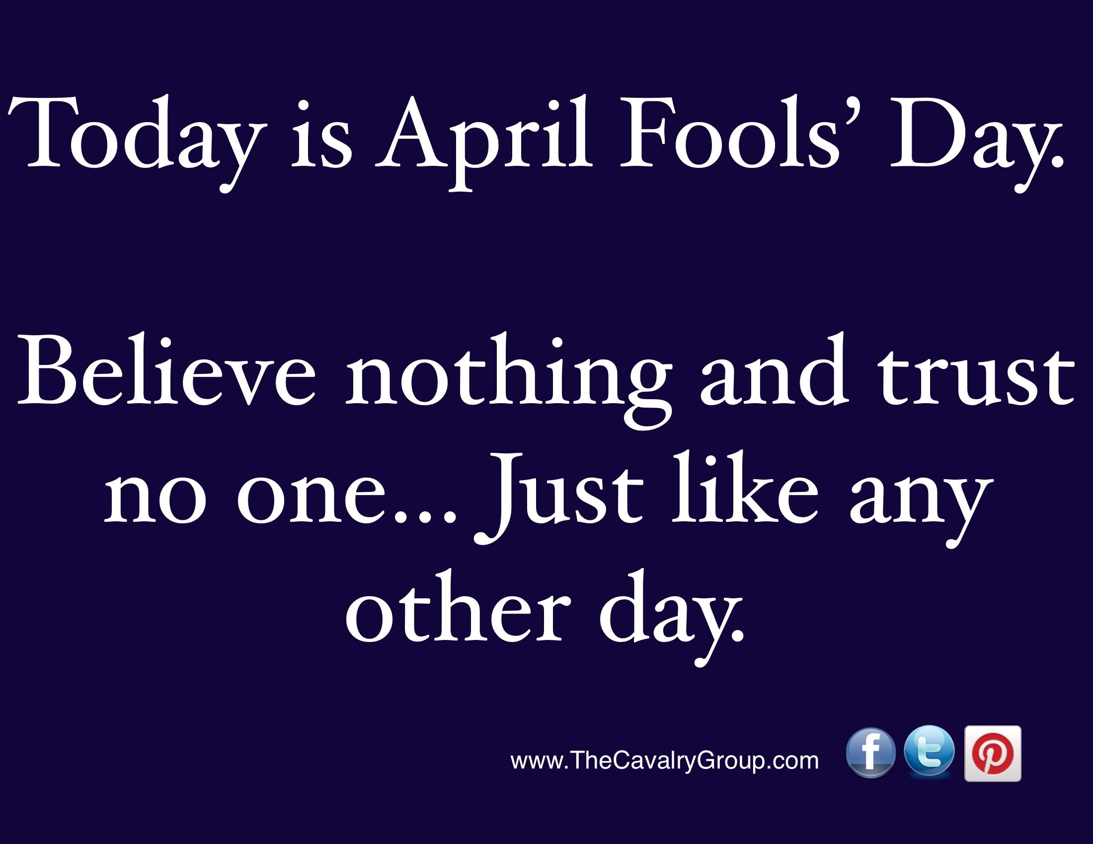 Rules for April Fools' Day | The Cavalry Group | Pinterest