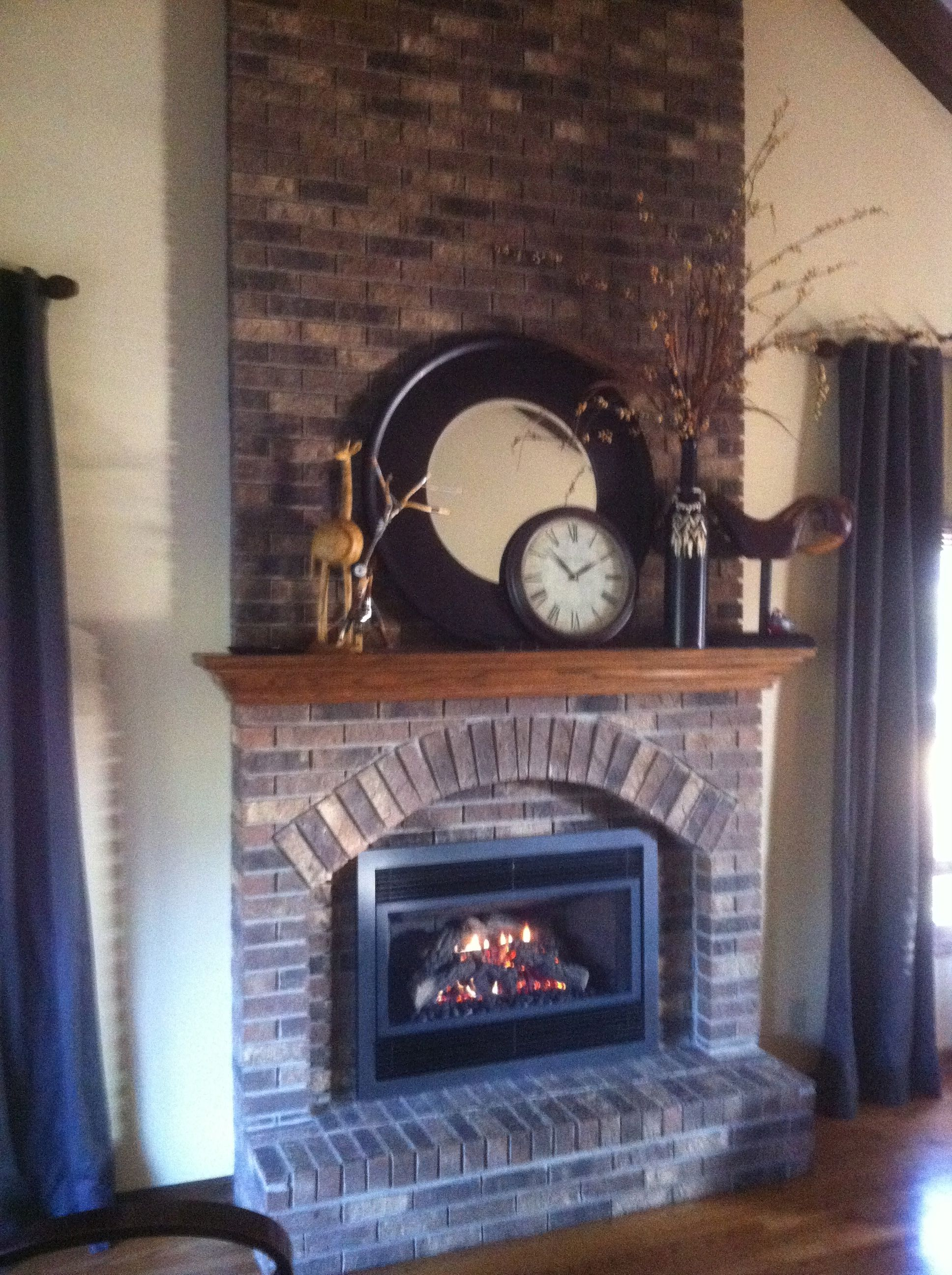 Brick Fireplace Decor Living Room Pinterest