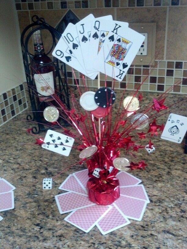 Casino poker party centerpieces party ideas pinterest for Party centerpiece ideas pinterest