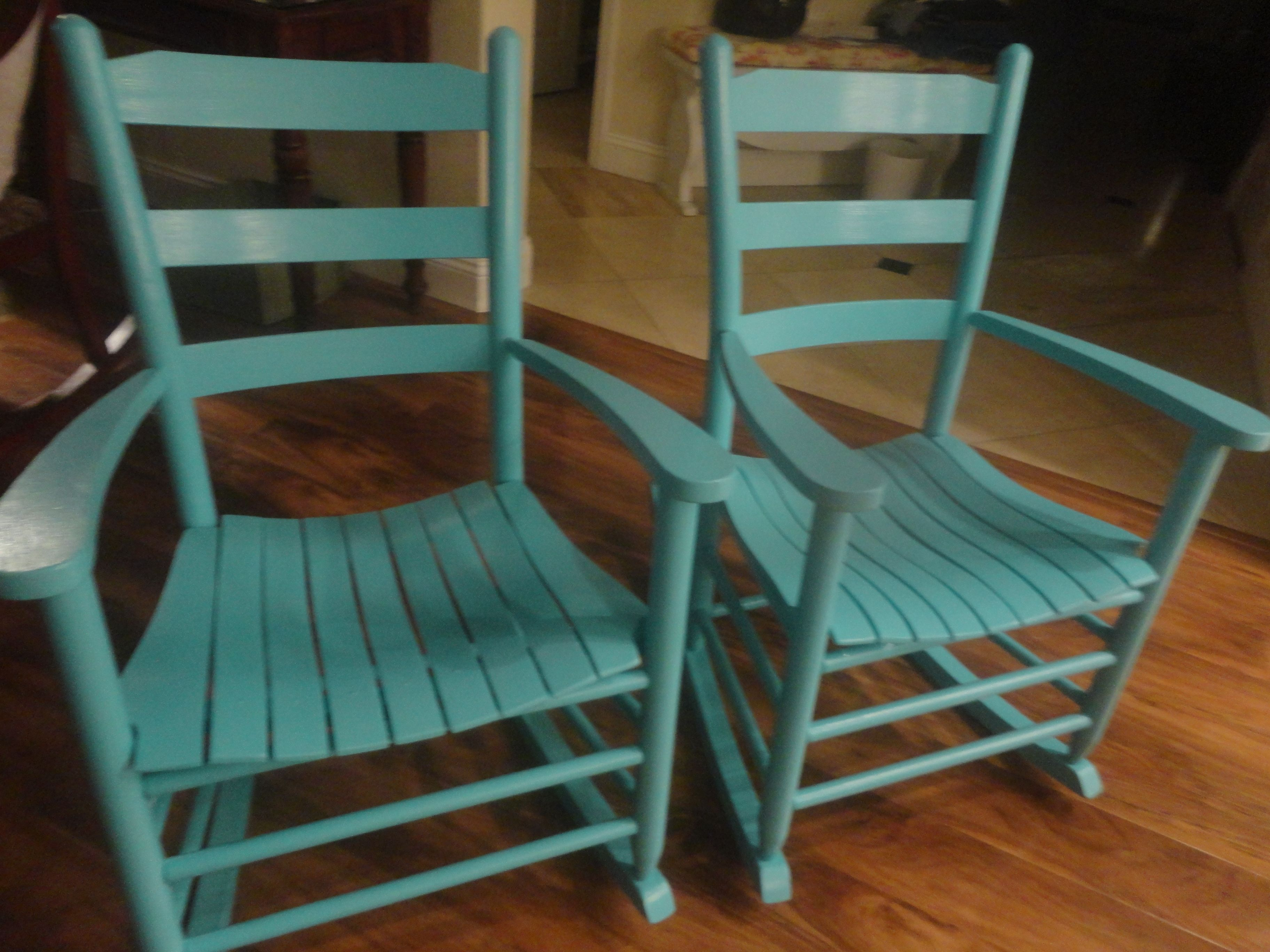 Amazing photo of painted rocking chairs For the Home Pinterest with #9B6230 color and 3648x2736 pixels