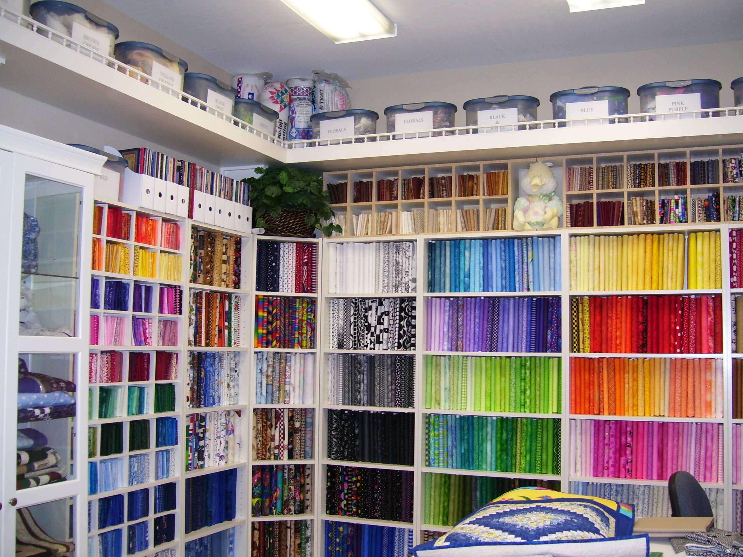 Quilting Room Quilt Sewing Craft Storage Ideas Pinterest