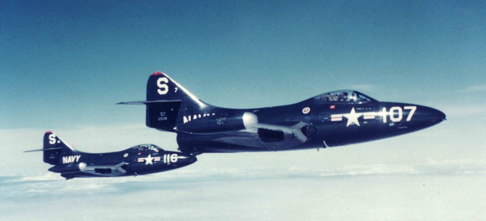 F9F-2 Panther Flight of Two | Fighter Aircraft | Pinterest