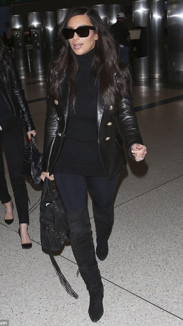 Kim Kardashian Fall Winter Fashion Pinterest