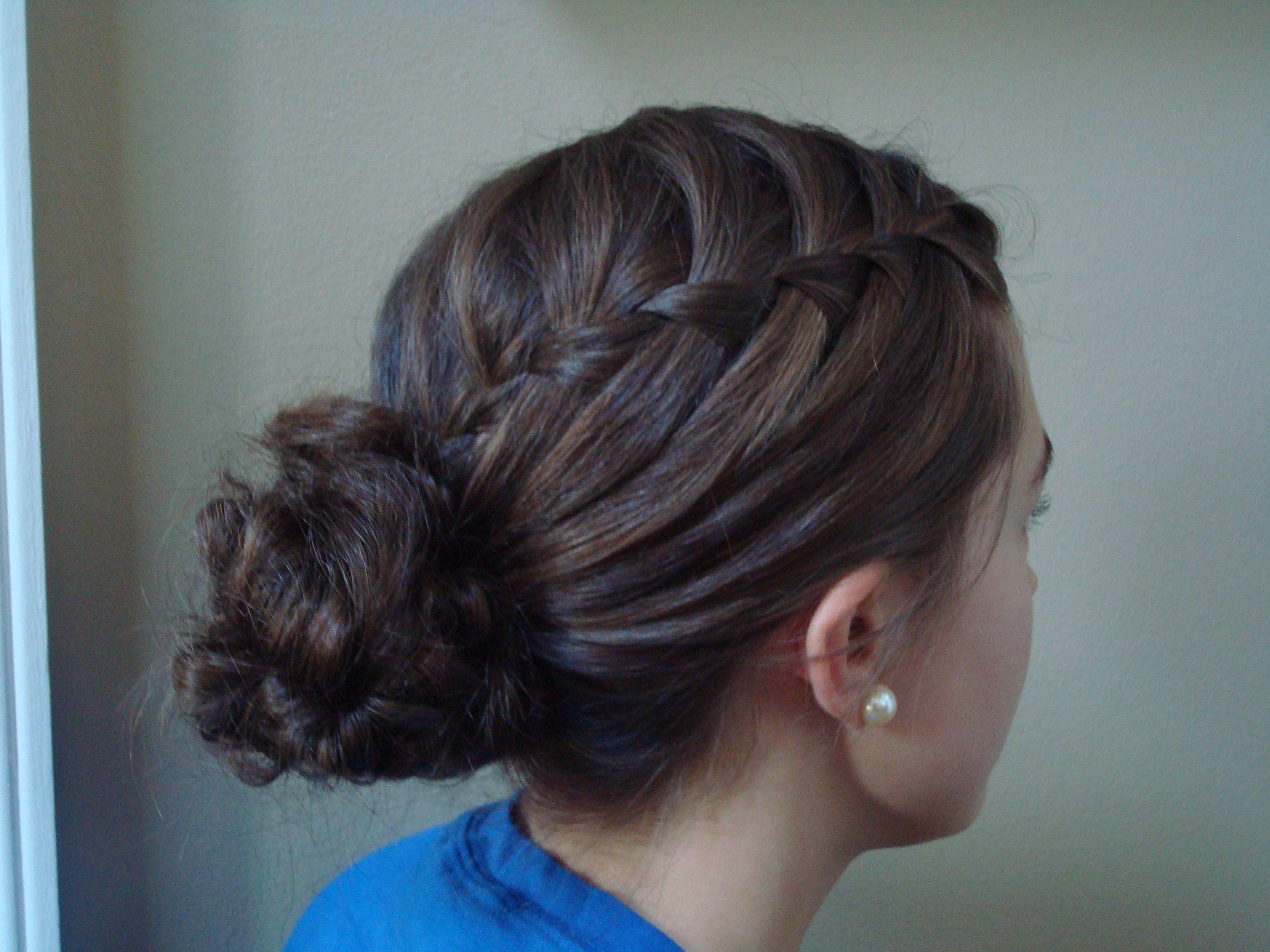 How To Do A Waterfall Braid Bun | waterfall braids and ...