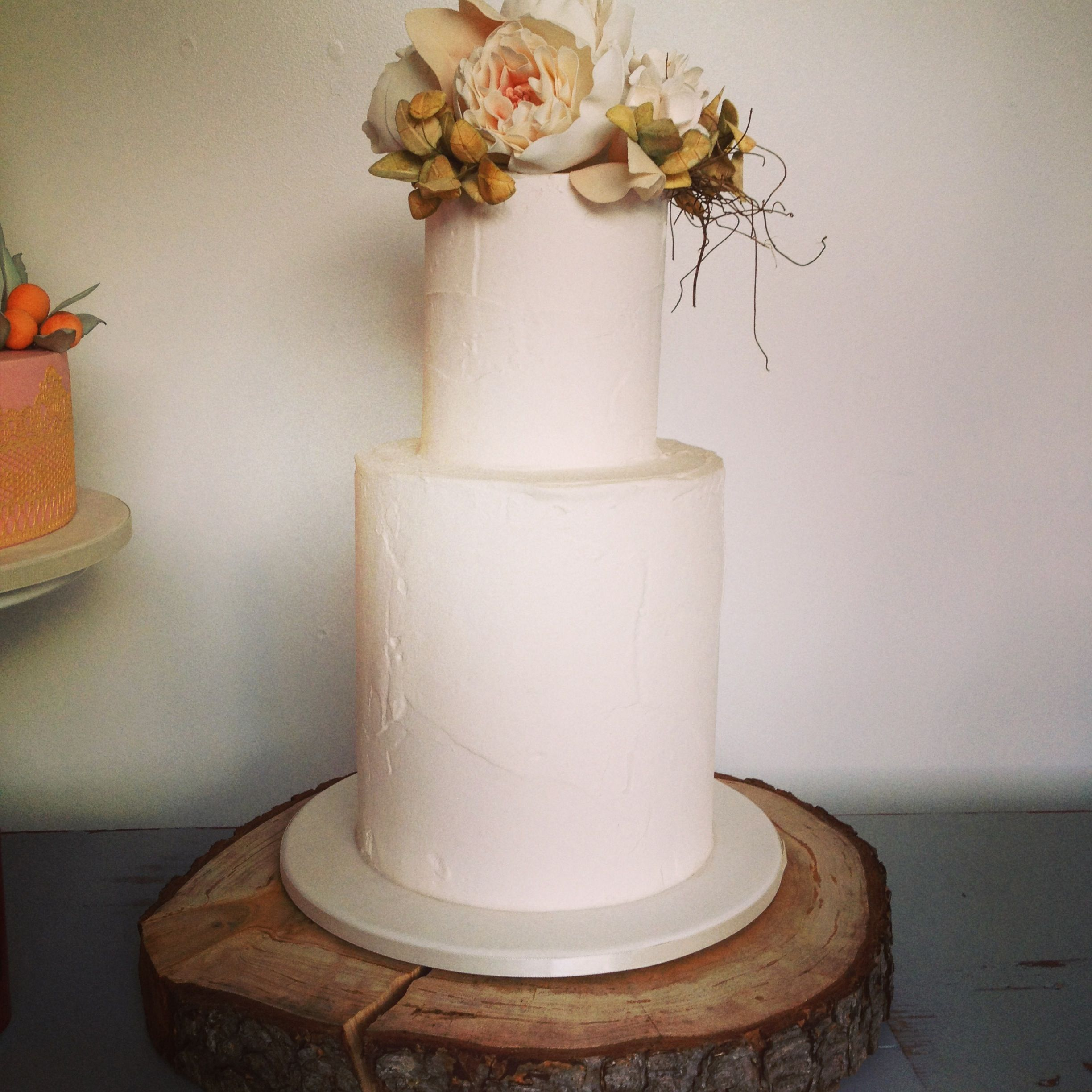 Country Vintage Wedding Cake