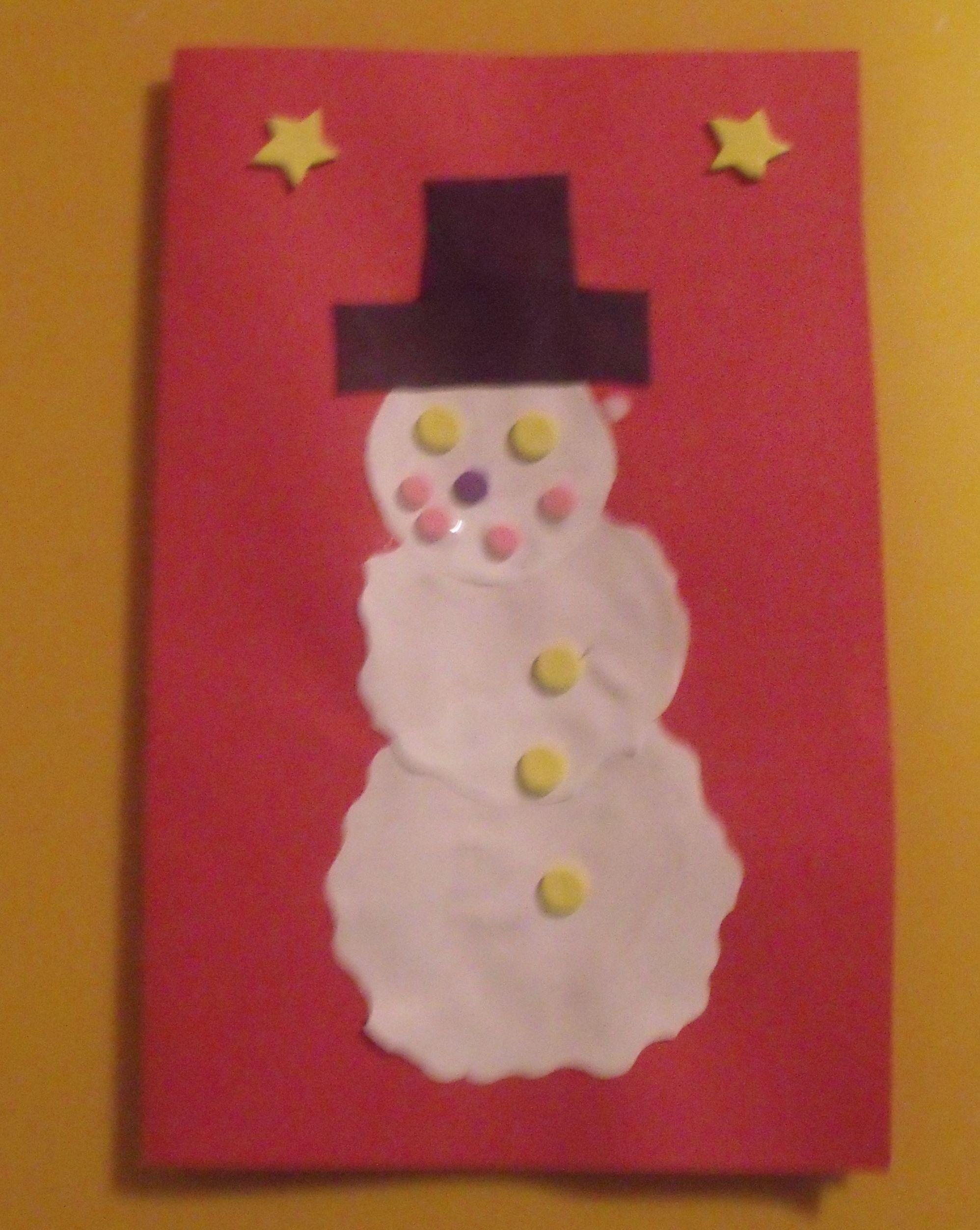 Snowman Christmas card | christmas crafts | Pinterest