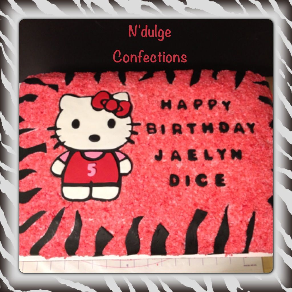 Hello kitty zebra sheet cake N Dulge Confections Pinterest