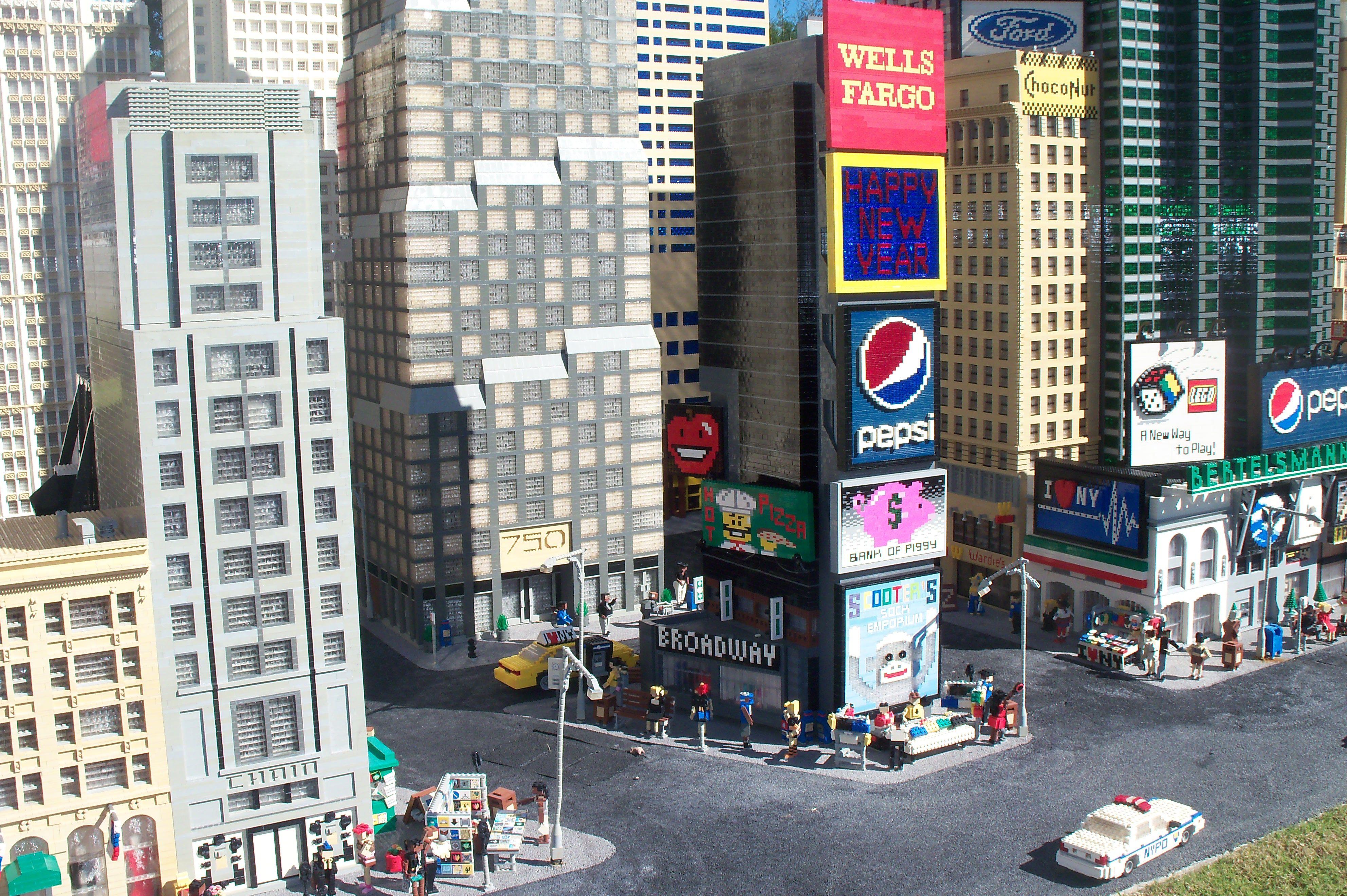 Times square new york city legos legos pinterest