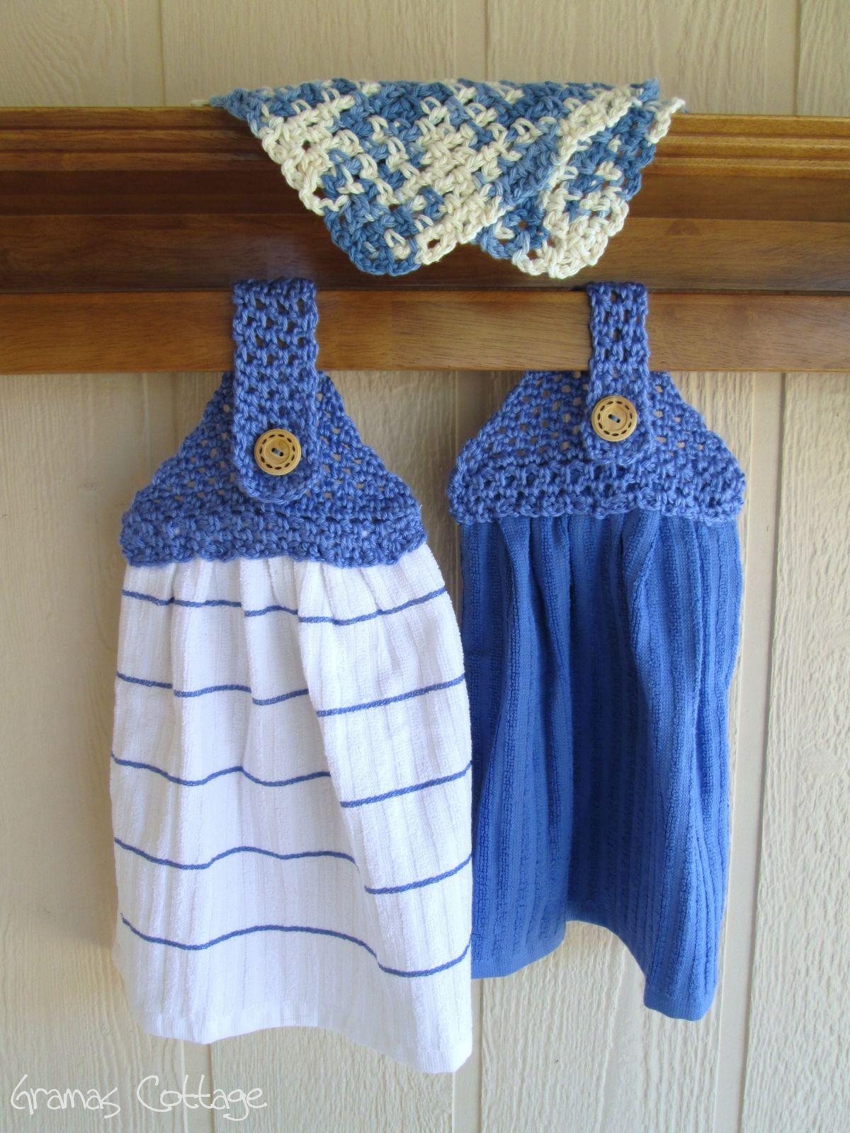 Hand Crochet Kitchen Towels Crochet Pinterest