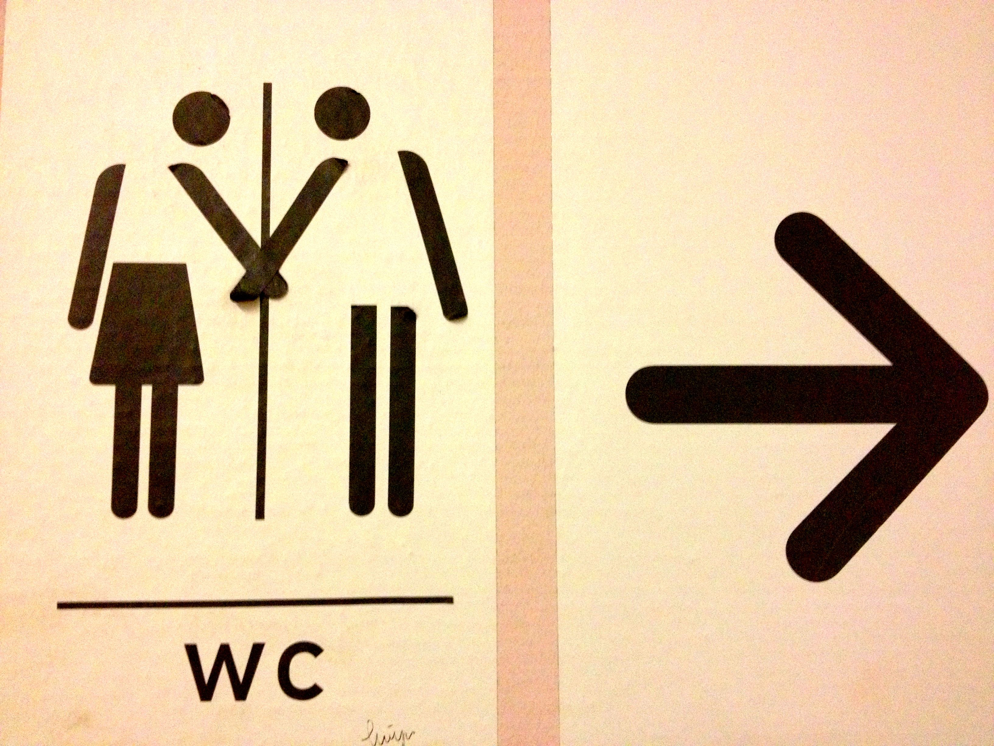 Cute Bathroom Sign Adventures And Inspirations Pinterest