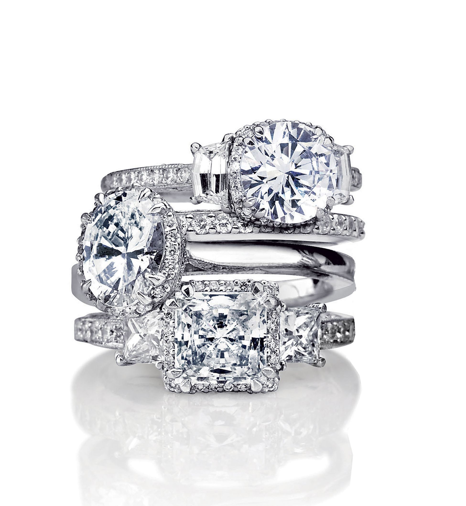 engagement rings stack by tacori gems and