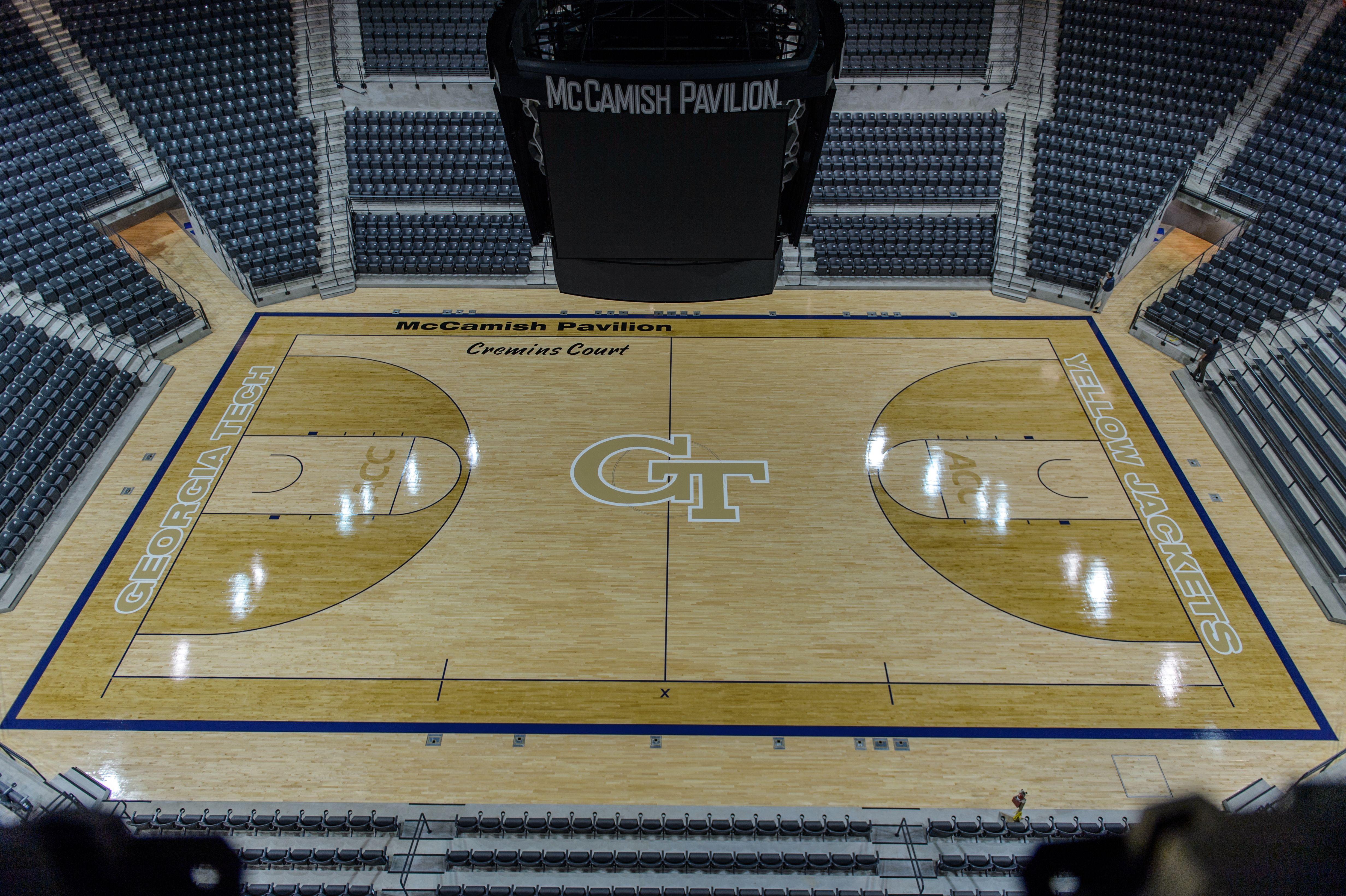 Georgia tech 39 s mccamish pavilion floor i 39 m a ramblin for Georgia floor