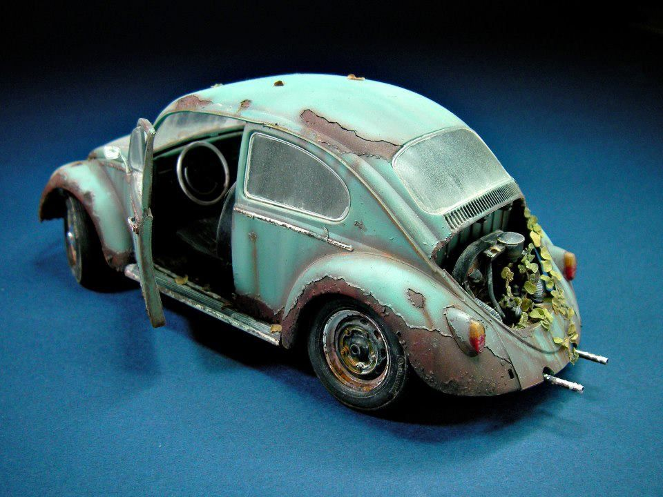 Weathered Vw Car Amp Truck Scale Models Pinterest