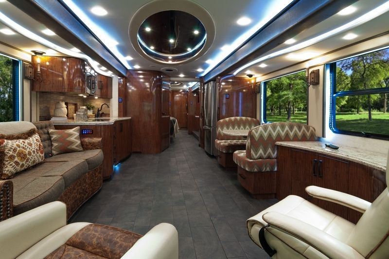 Luxury rv interior roll 39 n nice clean 0 pinterest Tour bus interior design