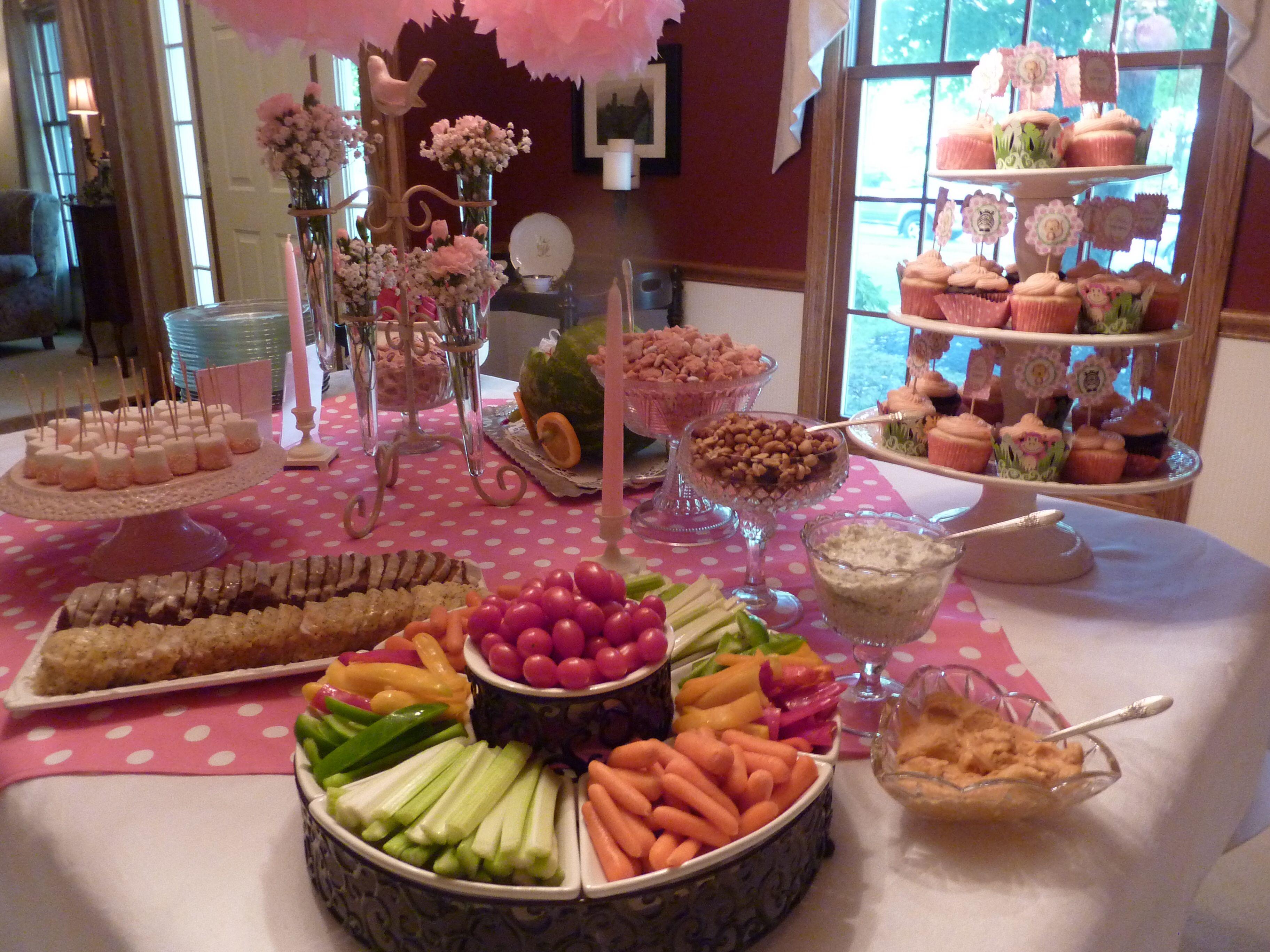 baby shower food table fiesta pinterest