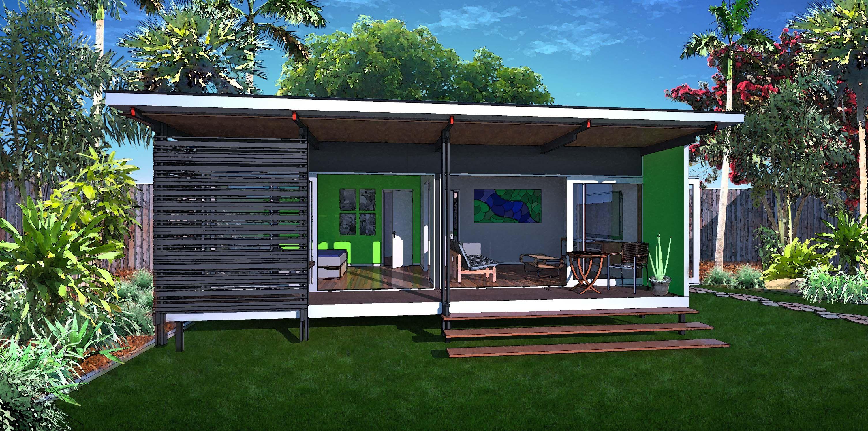 1 bedroom 35sqm granny flat retreat baahouse designs for 3 bedroom granny flat designs