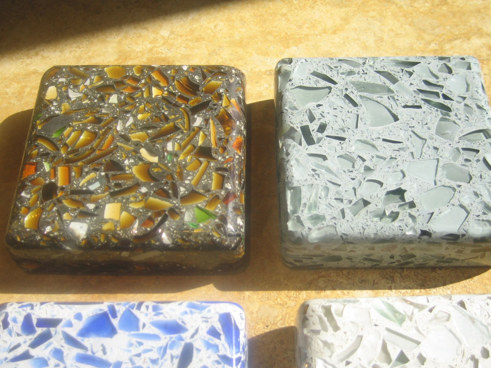 Countertop Materials Recycled : recycled glass countertops remodel ideas Pinterest