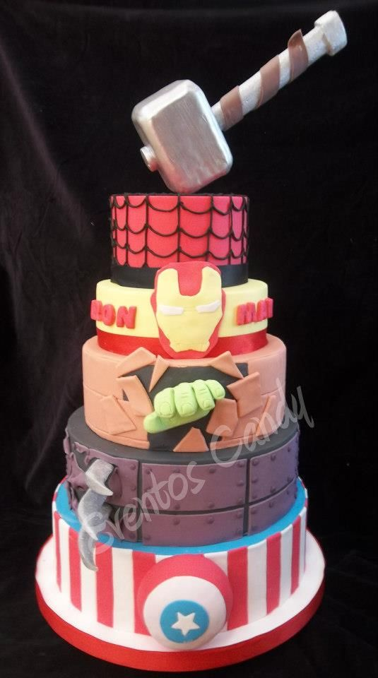 Avengers Cake  Party Ideas  Pinterest