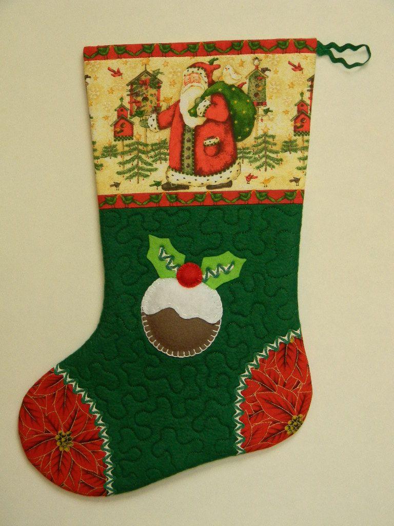 Christmas stocking my christmas handmade decorations for Custom made christmas stockings