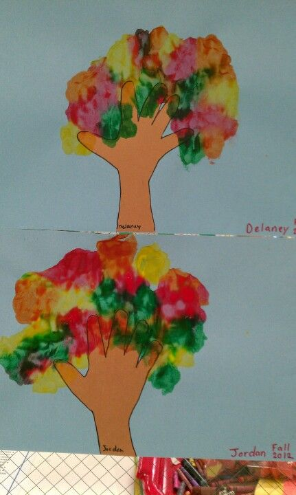 Fall tree craft for preschool for the kids pinterest for Fall crafts for preschoolers pinterest