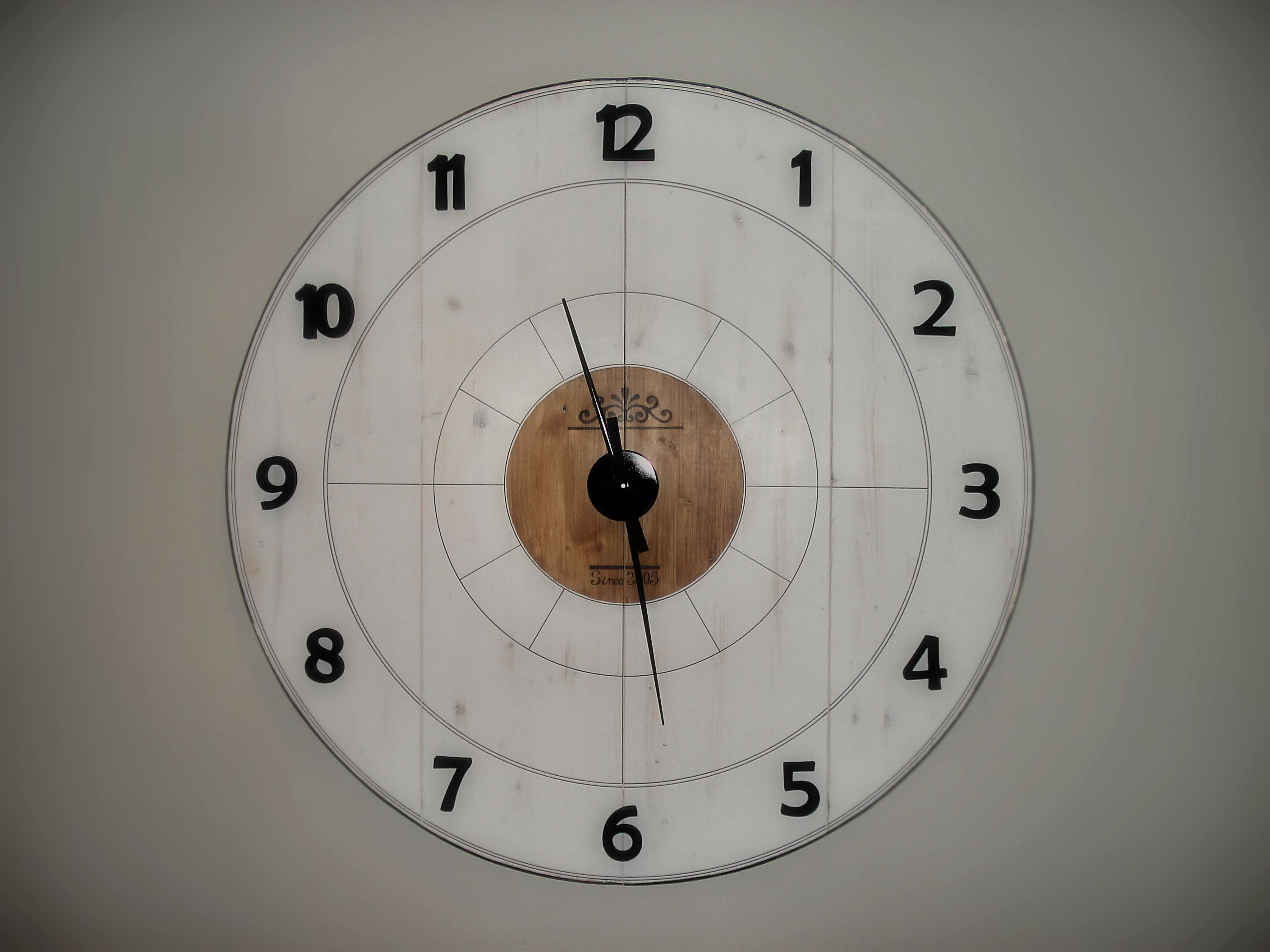 My First Diy Extra Large Wall Clock Clocks Pinterest