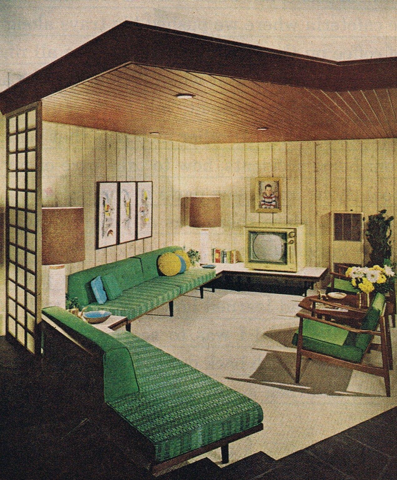 mid century living room perfection mid century design pinterest