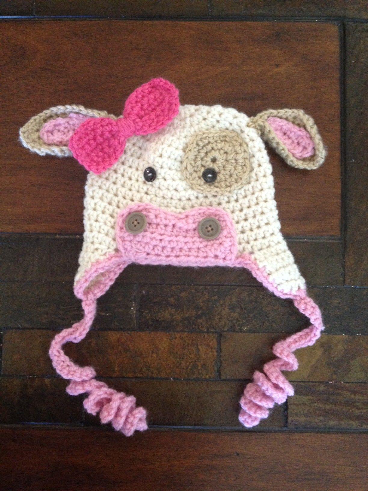 Crochet Pattern Cow Hat : Crochet Cow hat yummies Pinterest