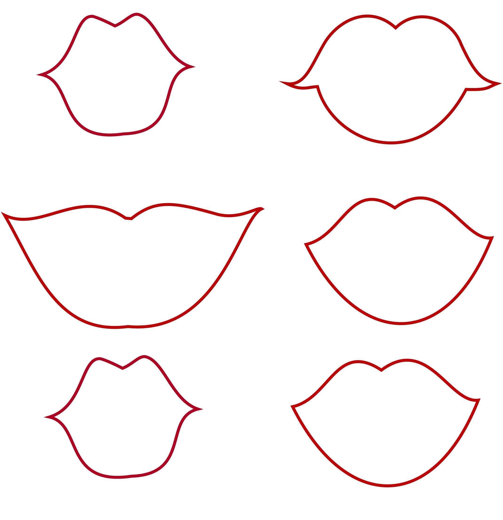 Шаблоны губ на палочке