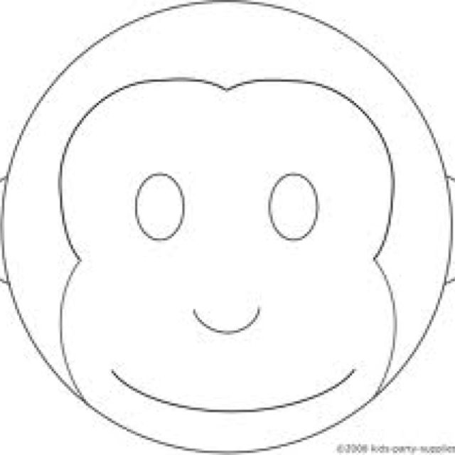 Pin monkey mask template on pinterest for Monkey face template for cake