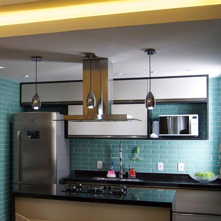 Cozinha Gourmet Revestimento Aquamarine Liverpool Portobello Banheiro Cozinha Azul