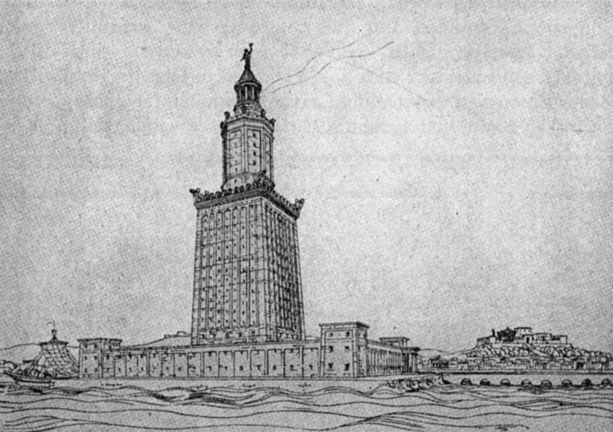 lighthouse of alexandria The lighthouse of alexandriait was commissioned by ptolemy ii philadelphus  from  when julius caesar landed in egypt, a fire partially destroyed the library.
