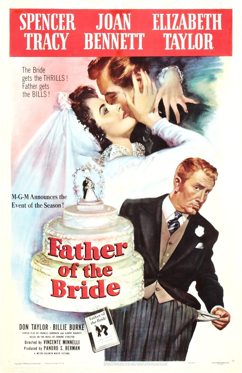Father Of The Bride 1950 Elizabeth Taylor Movies Pinterest
