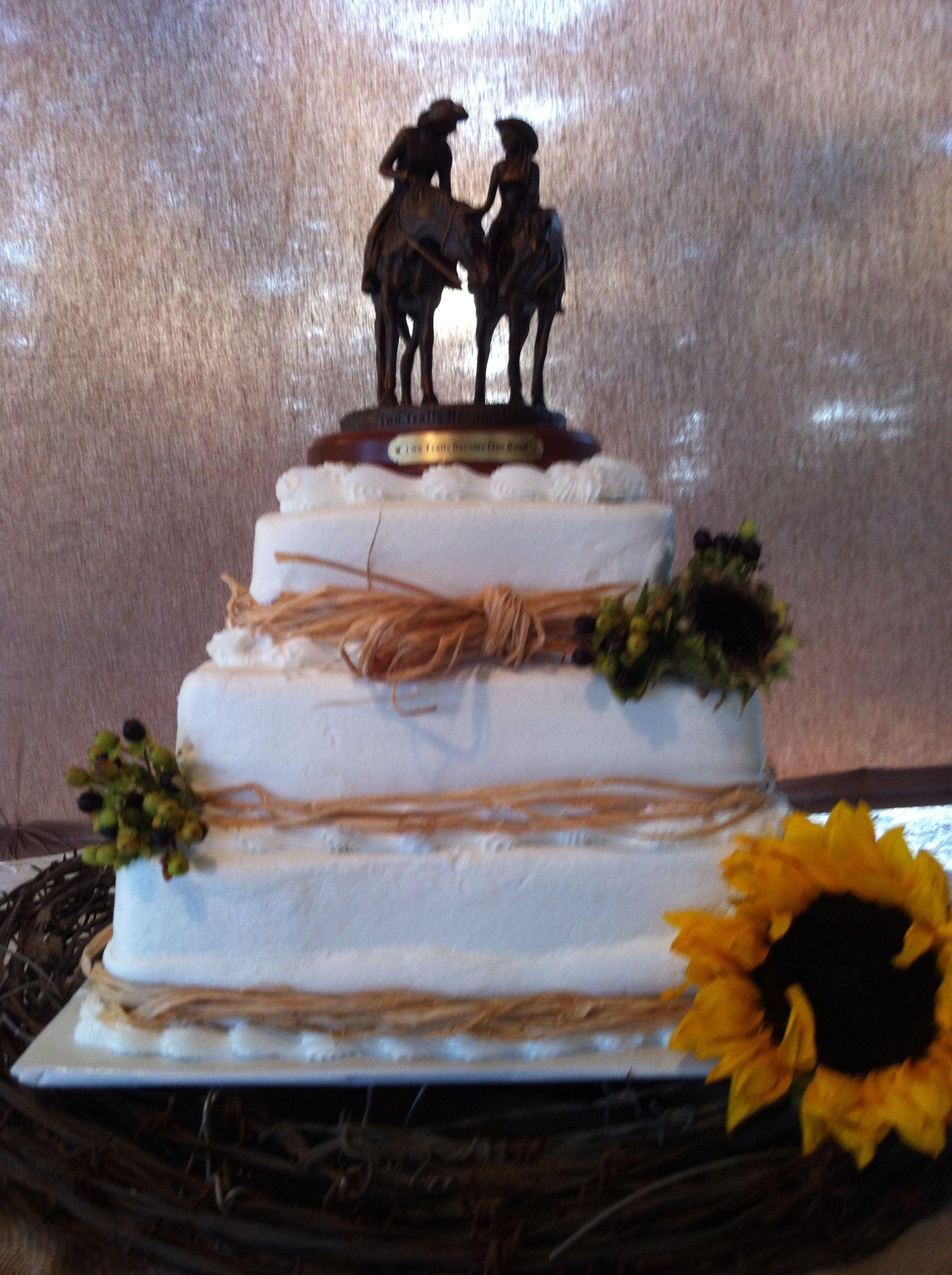 Western themed wedding cake Someday Wedding